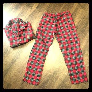 LAUREN Ralph Lauren Women's plaid pajama set Sz M